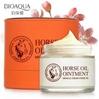 Увлажняющий крем против морщин с лошадиным жиром BioAqua Horse Oil Ointment Miracle Cream