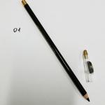 Карандаш косметический черный угольный глубокоматовый для глаз и бровей