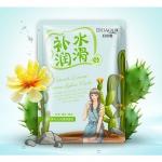 Увлажняющая тканевая маска BioAqua Natural Extract с экстрактом кактуса