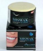 Зубной порошок Miswak на основе древесного угля и семян черного тмина