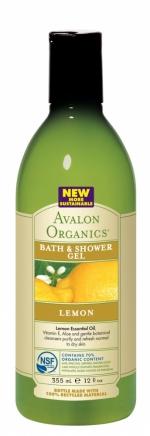 Гель для ванны и душа Avalon Organics с маслом лимона