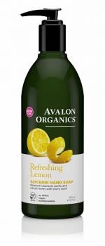 Глицериновое мыло для рук Avalon Organics с маслом лимона