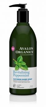 Глицериновое мыло для рук Avalon Organics с маслом мяты